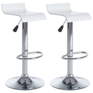 Waimes Height Adjustable Bar Stool (Set Of 2) By Wade Logan
