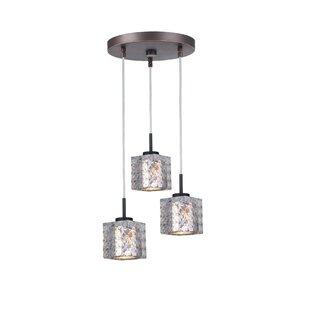 Wrought Studio Sadowski 3-Light Cluster Pendant
