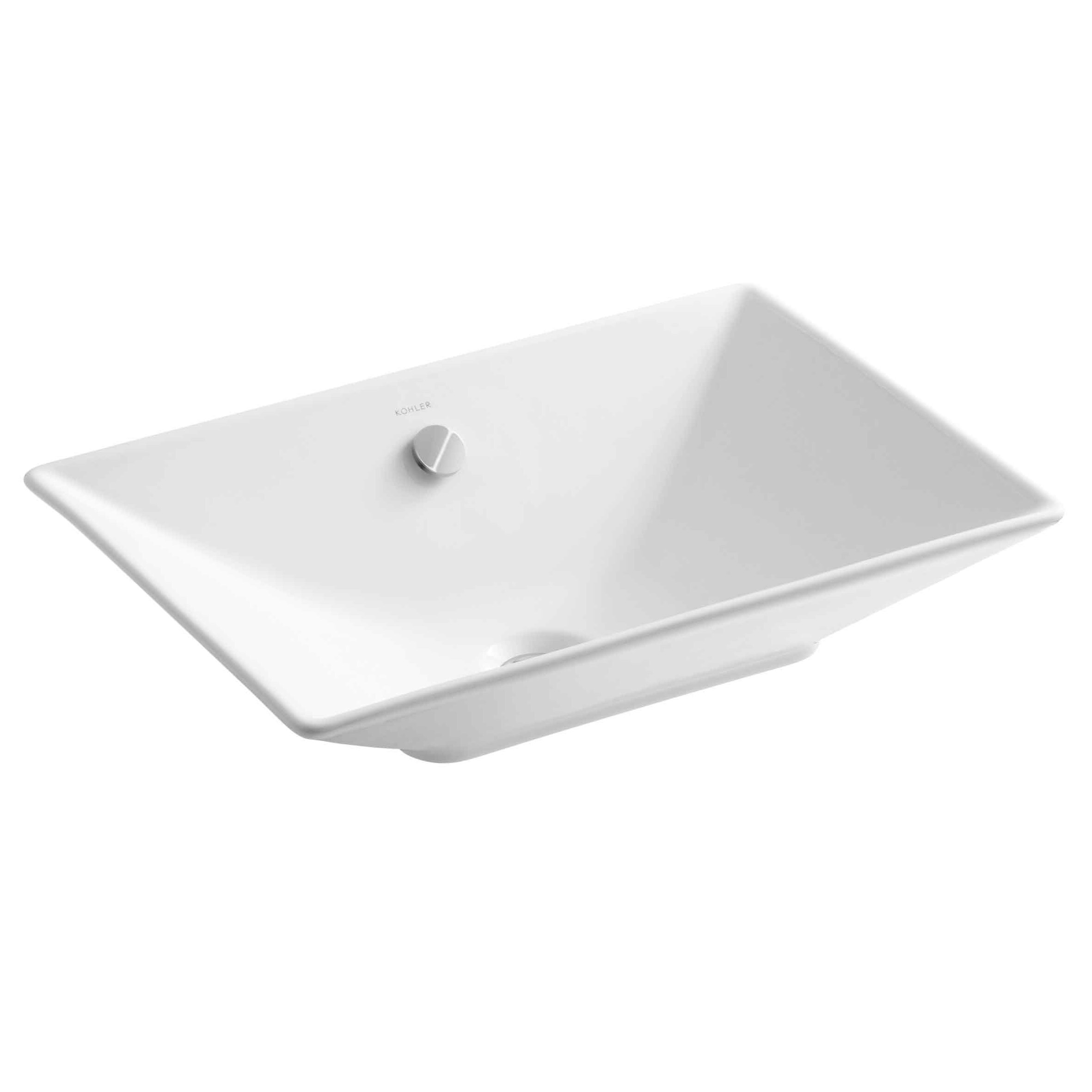 K 4819 0,47,96 Kohler Reve Ceramic Rectangular Vessel Bathroom Sink With  Overflow U0026 Reviews | Wayfair