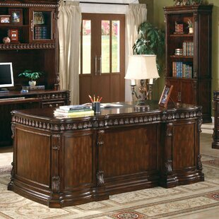 Fast Solid Wood Executive Desk by Astoria Grand