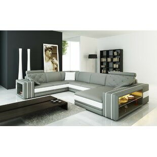 Orren Ellis Scarberry Leather Sectional