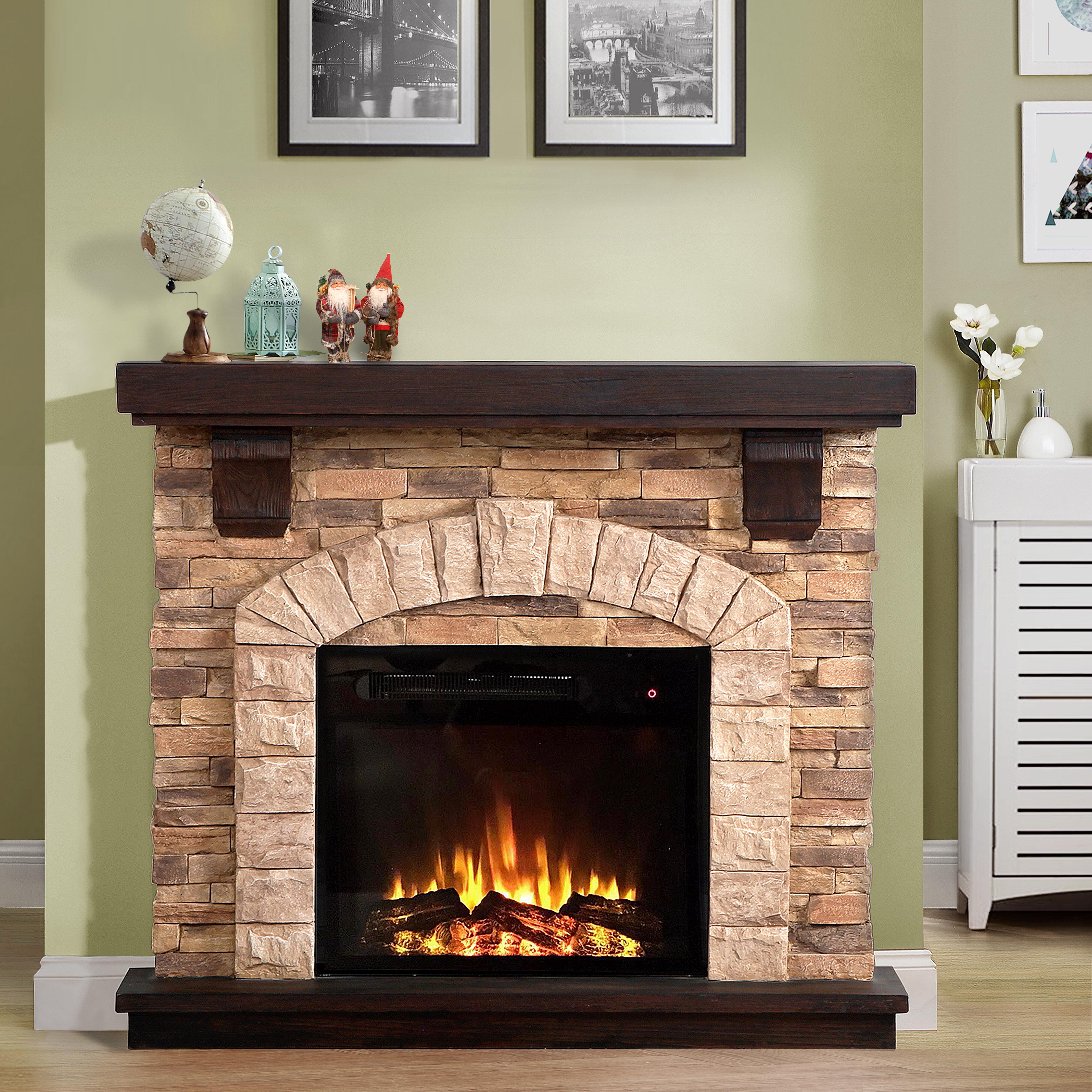 Loon Peak Manford Electric Fireplace Reviews Wayfair