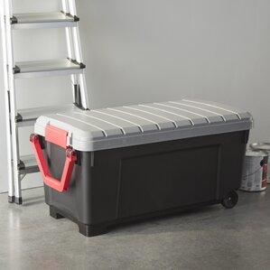 wayfair basics heavy duty 42 gallon storage trunk with wheels
