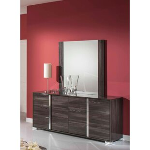 Demaria 6 Drawer Dresser with Mirror