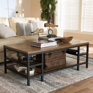 Pilning Rustic Industrial Style Coffee Table