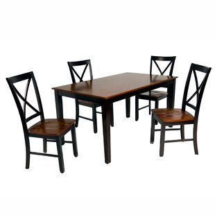 Connellsville 5 Piece Dining Set (Set of 4) DarHome Co