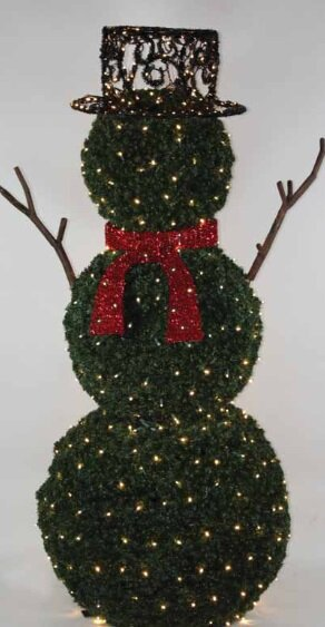 giant commercial grade led lighted snowman topiary christmas decoration - Topiary Christmas Decorations