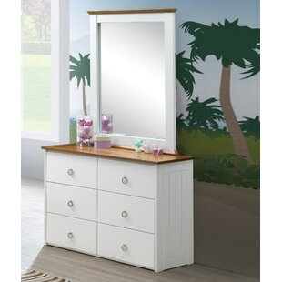 Lasater 6 Drawer Double Dresser with Mirror