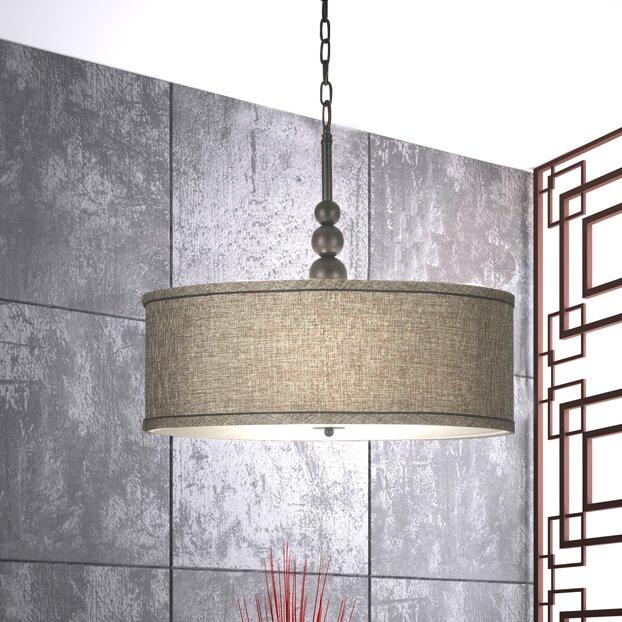 Annuziata 3-Light LED Drum Pendant  sc 1 st  Wayfair & Willa Arlo Interiors Annuziata 3-Light LED Drum Pendant u0026 Reviews ...
