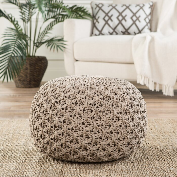 Strange Carin Pouf Ottoman Gmtry Best Dining Table And Chair Ideas Images Gmtryco