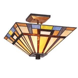Harva Mission 2-Light Semi Flush Mount by Millwood Pines