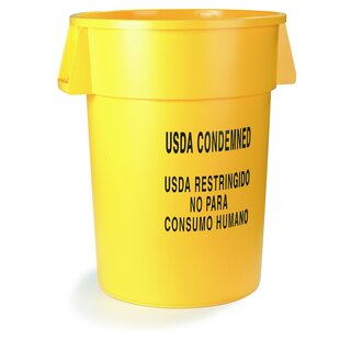 Carlisle Food Service Products Bronco 20 Gallon Trash Can (Set of 6)