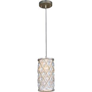 Willa Arlo Interiors Rosas 1-Light Cylinder Pendant