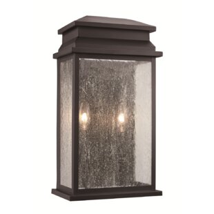 Gracie Oaks George 2-Light Outdoor Flush Mount