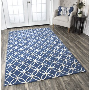 Kenzie Navy & Parchment Hand-Woven Wool Area Rug by Birch Lane?
