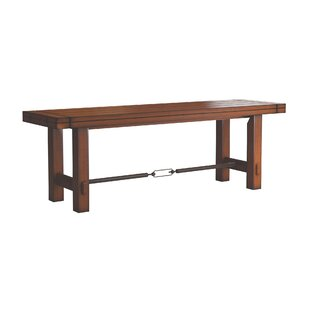 Laurel Foundry Modern Farmhouse Axton Stretcher Dining Metal Bench