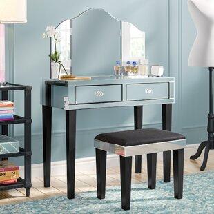 Shop Roldene Vanity Set with Mirror ByRosdorf Park