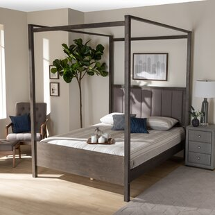 Enon Tufted Canopy Bed by Latitude Run