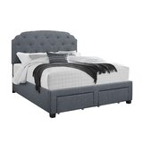 Neve Tufted Upholstered Storage Standard Bed by Charlton Home®