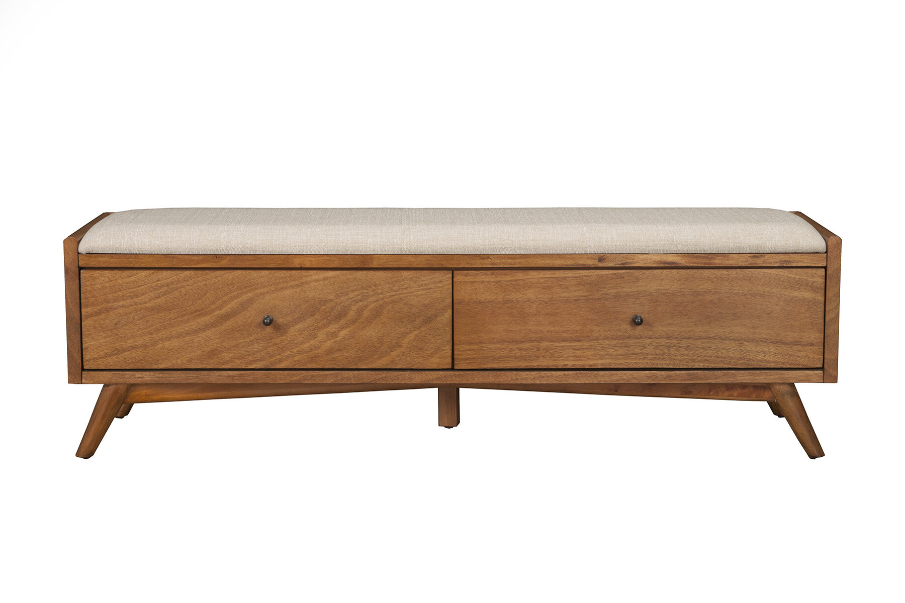 Williams Upholstered Solid Wood Drawer Storage Bench Reviews Allmodern