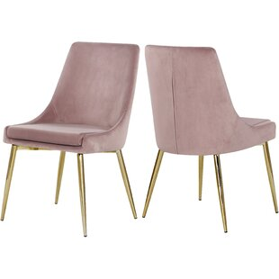 Blush Pink Velvet Dining Chair Wayfair Ca