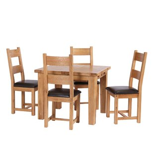Blaine Extendable Dining Set with 4 Chairs by Brick & Barrow