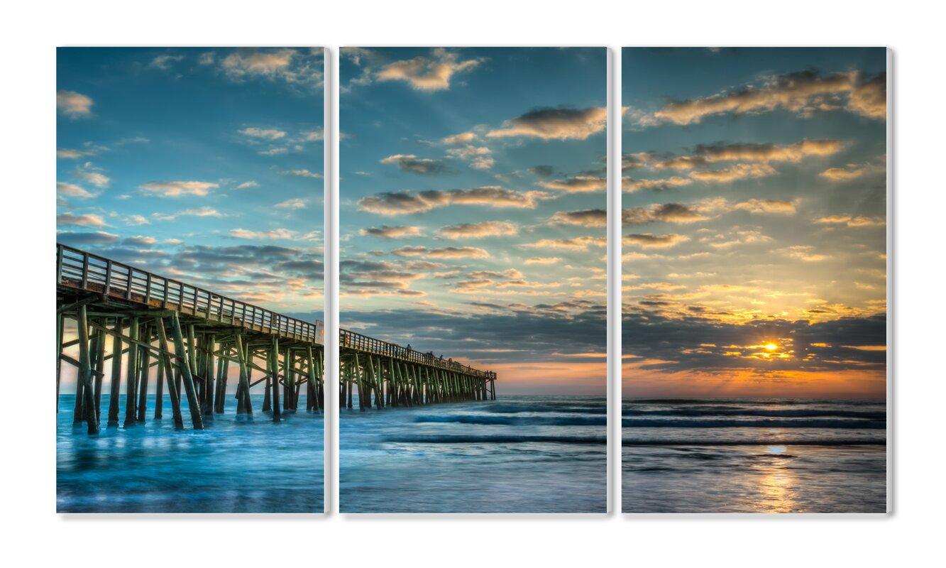 Beachcrest Home Merrymeeting 3 Piece Graphic Art Print Set & Reviews ...