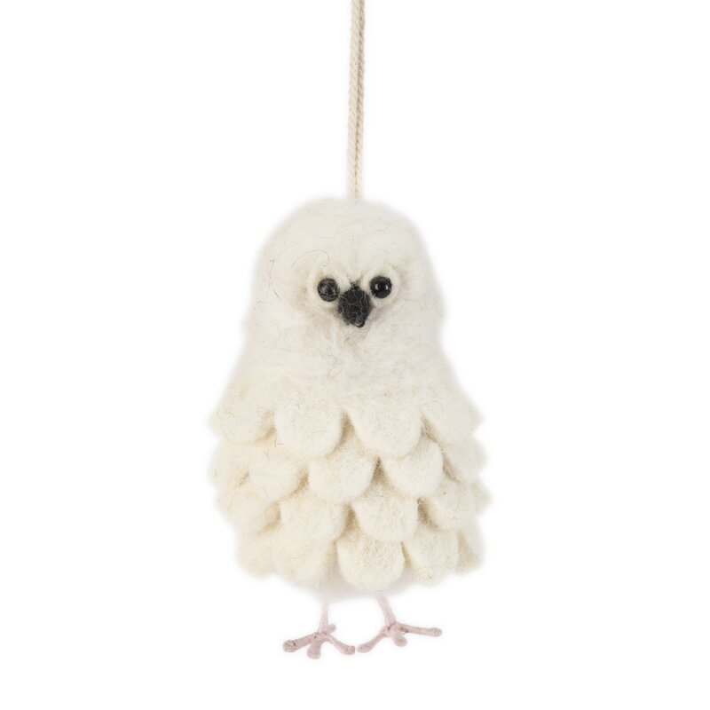 Snowy Owl Hanging Figurine Ornament Joss Main