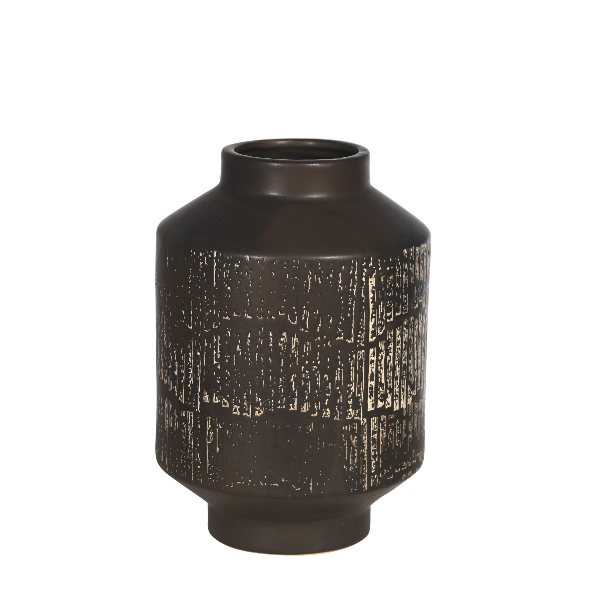 Bloomsbury Market Berti Black 10 Ceramic Table Vase Wayfair
