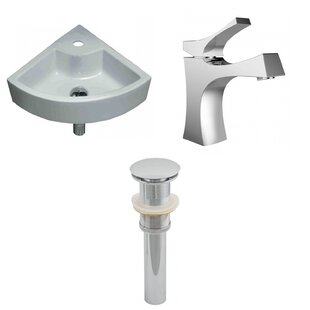Order Specialty Ceramic Specialty Vessel Bathroom Sink with Faucet By American Imaginations