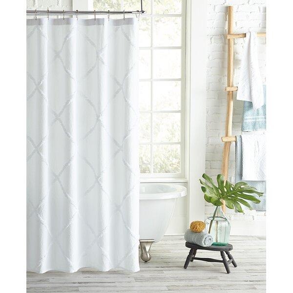 White Cotton Shower Curtain | Wayfair