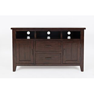 Hicks Transitional Solid Wood Media Console Table