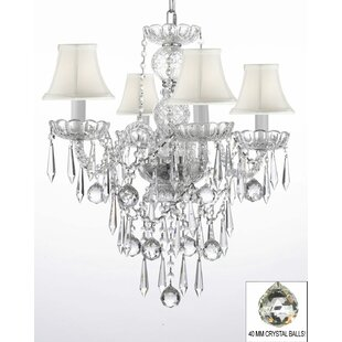 Kerwin 4-Light Shaded Chandelier by House of Hampton