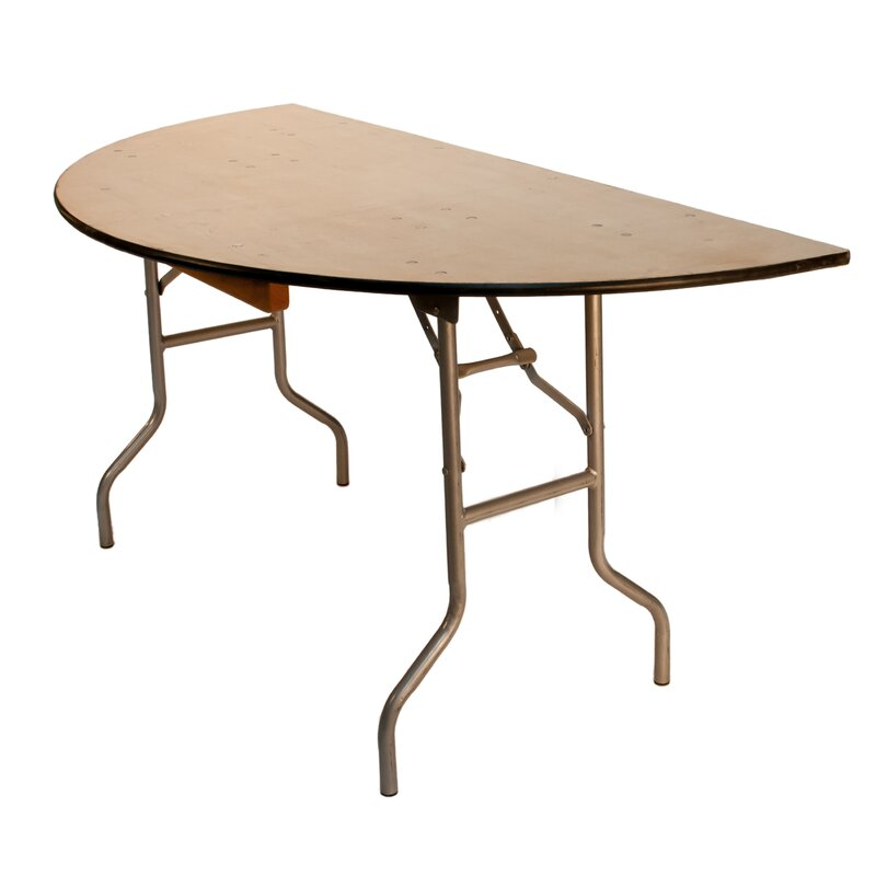 Pre Sales Wft 60 Semi Circle Folding Table Wayfair