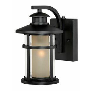 Enger 1-Light Outdoor Wall Lantern by Breakwater Bay