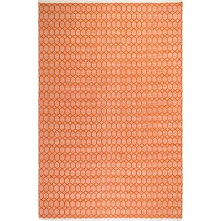 Estate Lyndhurst Hand-Woven Orange Rug by Fab Hab