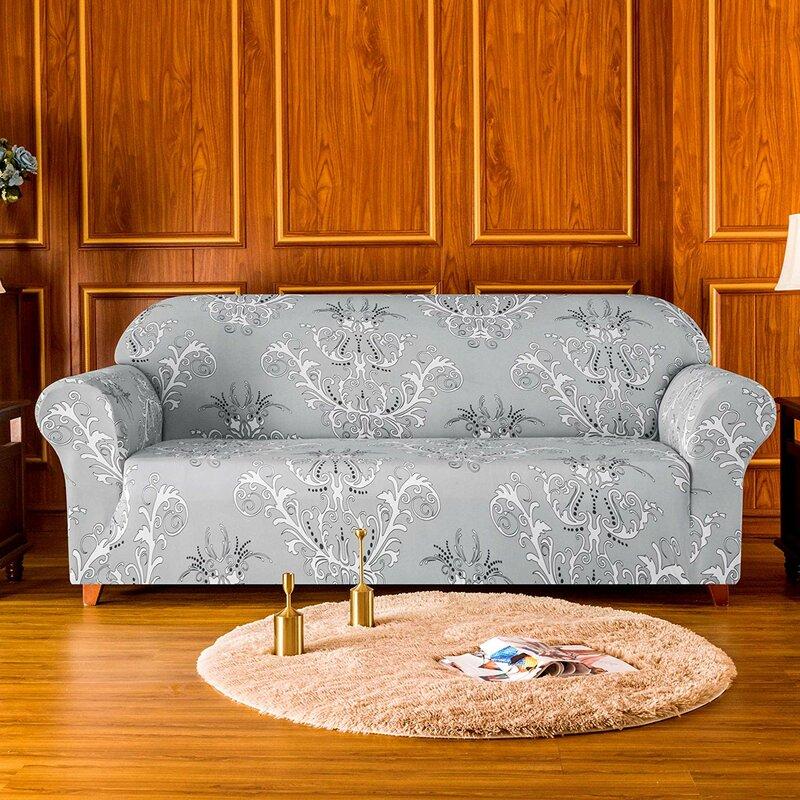 Rosalind Wheeler Floral Printed Soft Stretchy Box Cushion Loveseat Slipcover Reviews Wayfair Co Uk