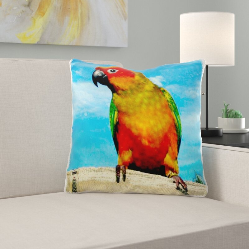 East Urban Home Sun Conure Square Pillow Cover Wayfair