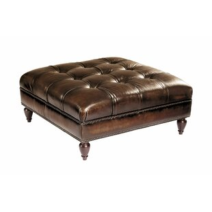 Colston Leather Tufted Cocktail Ottoman by Bernhardt