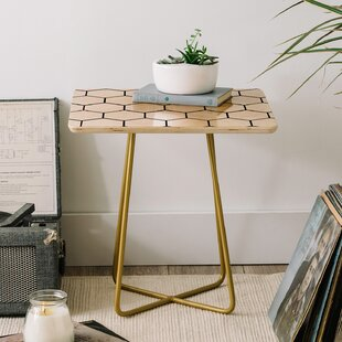 Allyson Johnson Comb End Table by East Urban Home
