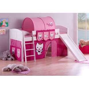 Ida European Single Mid Sleeper Bed with Bottom Bunk Curtain by Just Kids