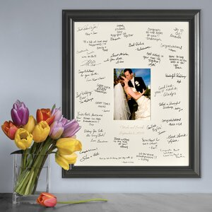 personalized gift laser engraved wedding wishes signature picture frame - Engraved Photo Frame