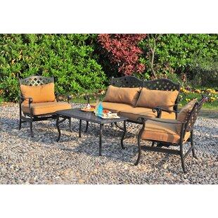 Largemont 4 Piece Sofa Set with Cushions