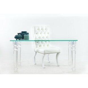 Lucite Glass Writing Desk