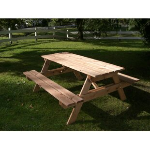 Wooden Picnic Bench Image