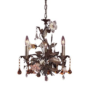 Sumrall 3-Light Crystal Chandelier by Ast..