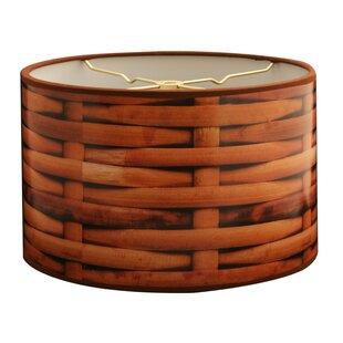 Basket Weave Designer Hard Back 10 Paper Drum Lamp Shade