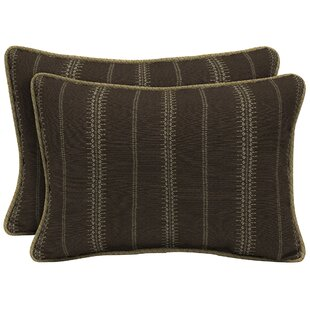Trevor Stripe Outdoor Lumbar Pillow (Set of 2)