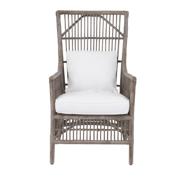 Beachcrest Home Eldora High Back Armchair U0026 Reviews | Wayfair