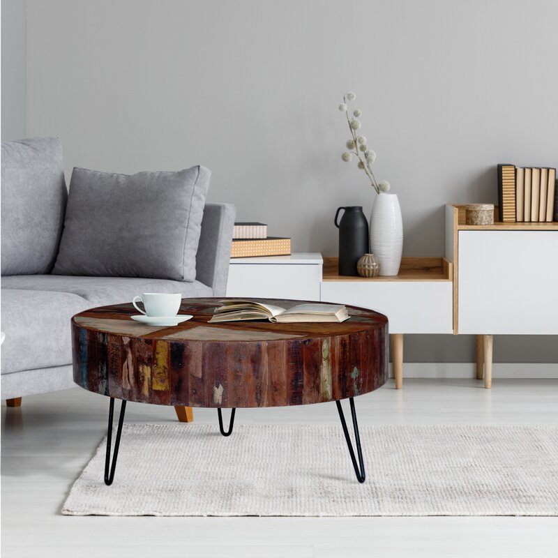 Kalson Solid Wood 3 Legs Coffee Table